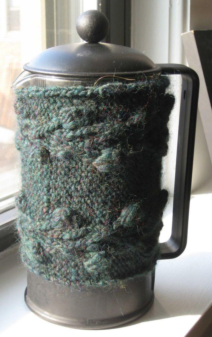 ChemKnits: Briar Rose French Press Coffee Cozy