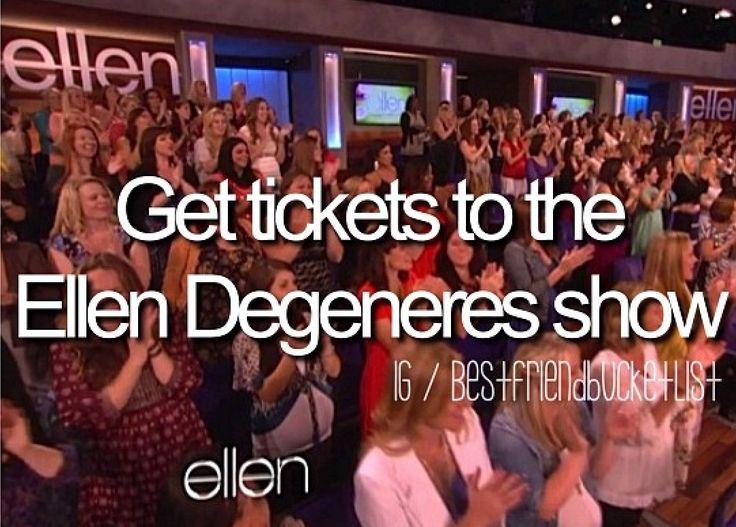get tickets to the ellen degeneres show