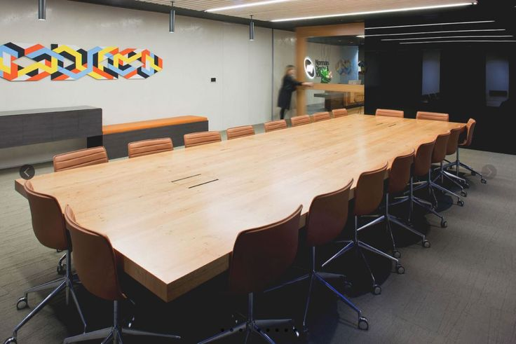 CMS used Executive In-desk boxes in this boardroom.