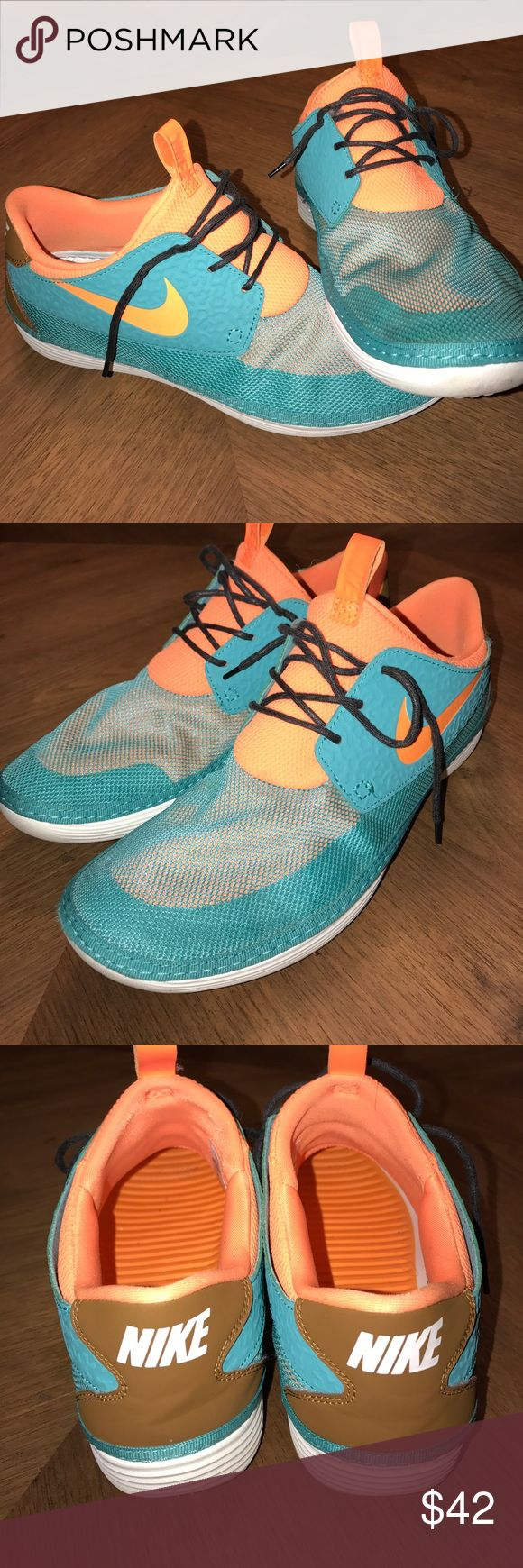 Nike Solarsoft Moccasins sz 11 Miami Ducks Ugh! I just ordered these and they are a little too small. Should have went with 11.5.  They have very minor wear. Nike Shoes Sneakers