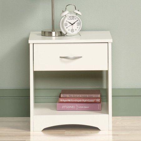 Sauder Furniture Beginnings 1 Drawer Nightstand Soft White Kids