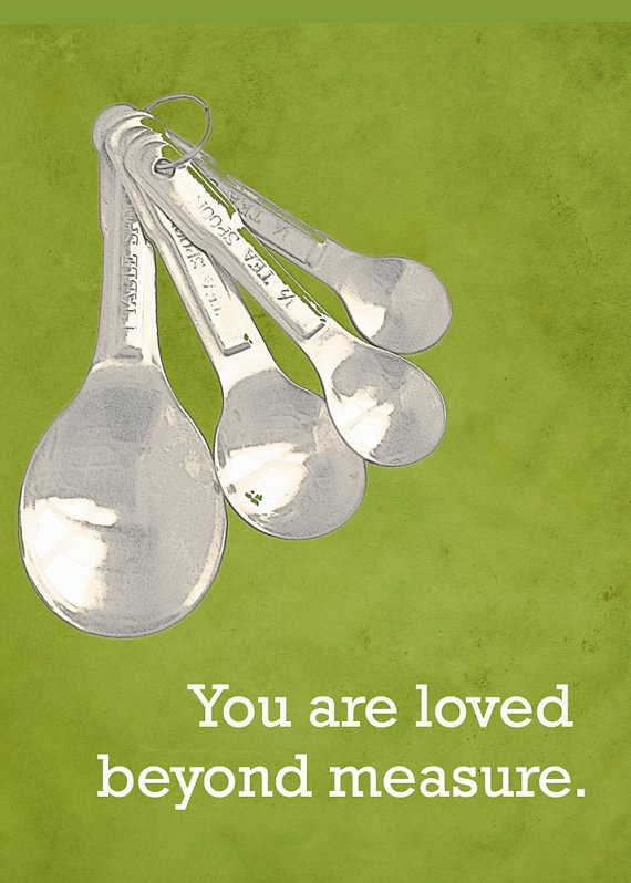 Love Measuring Spoons by DawnSmithDesigns