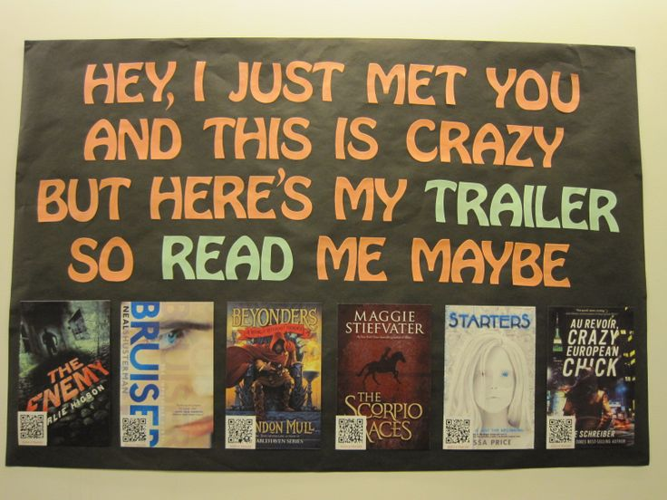 Book Trailers... Hey I just met you, and this is crazy, but here's my trailer so read me, maybe!