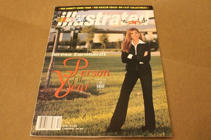 NASCAR ILLUSTRATED TERESA EARNHARDT PERSON OF THE YEAR ISSUE DECEMBER 2001