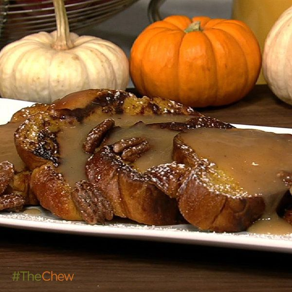 ... Pumpkin French Toast with Apple Cider Syrup and Spiced Pecans #TheChew