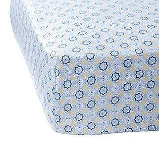 Slate/Goldenrod Mosaic Crib Sheet