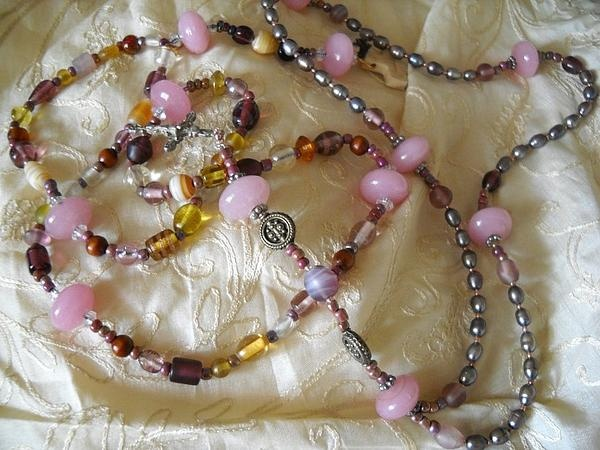 Two Rosaries that I designed.