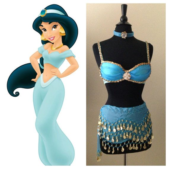 Disney's Princess Jasmine Inspired Costume/Rave by LaLaNala