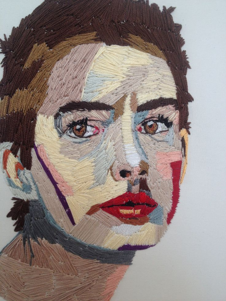 Anne. Embroidery on canvas.
