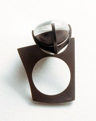 Kış Yüzüğü, kuvars, 925 Ag