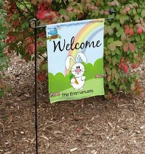 42 best outdoor garden flags images on pinterest outdoor gardens personalized happy easter garden flag negle Image collections