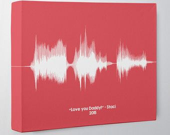 Fathers Day Gift from Daughter, Sound Wave Canvas Art, Best Custom Gift for Dads from Son, Voiceprint Any Message, Personalized Gift