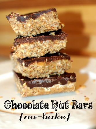 Chocolate Nut Protein Bars -- Perfect as dessert, meals or treats on-the-go, and an excellent snack for pregnant and nursing mothers (or anyone in need of easy, high-protein snacks).