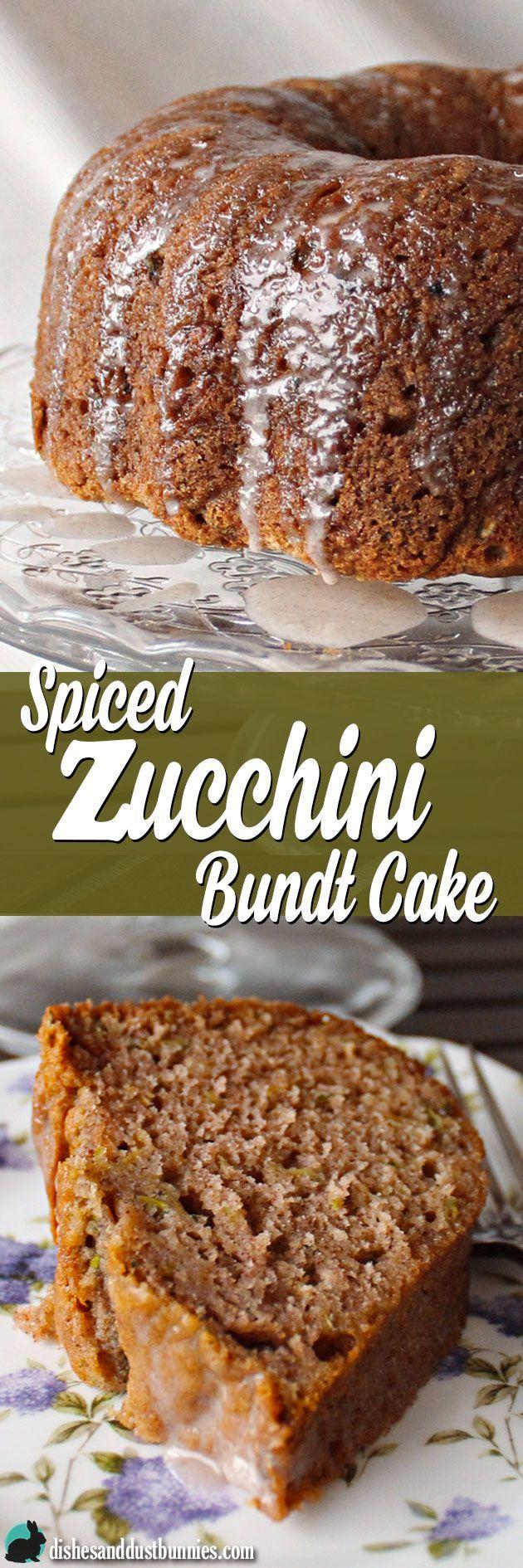 Spiced Zucchini Bundt Cake from dishesanddustbunnies.com