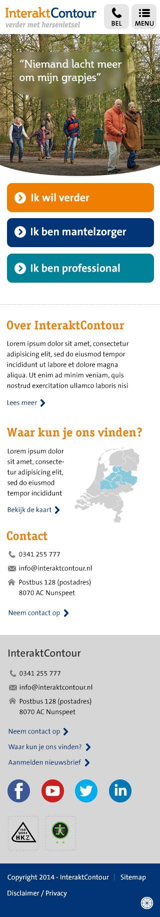 Webdesign Interakt Contour - homepage mobiel