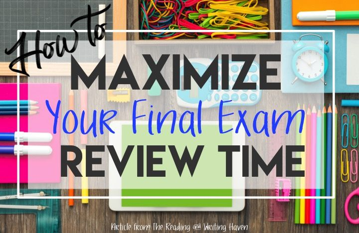 Make the most of final exam review sessions in high school. This blog post from The Reading & Writing Haven provides some meaningful approaches for secondary teachers.