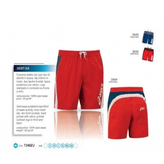 Asics Short Sea úszónadrág férfi piros