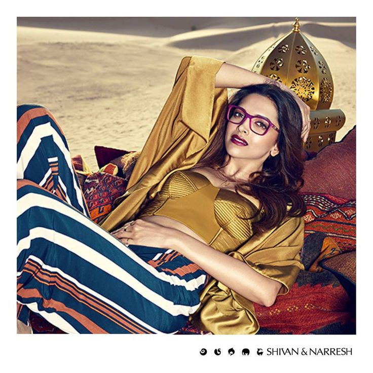 Deepika Padukone in Shivan & Narresh Moss Bralette & Resort Cape for Vogue Eyewear Campaign | #DeepikaPadukone #ShivanAndNarresh #VogueEyewear #CelebStyle