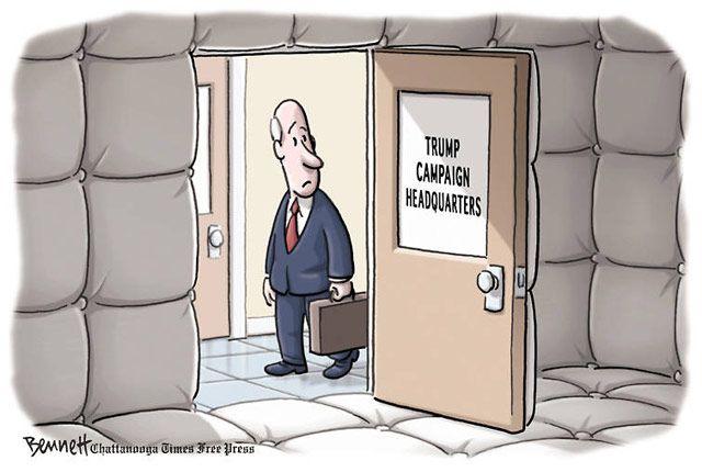 Best Donald Trump Cartoons of 2016: Trump Campaign Headquarters