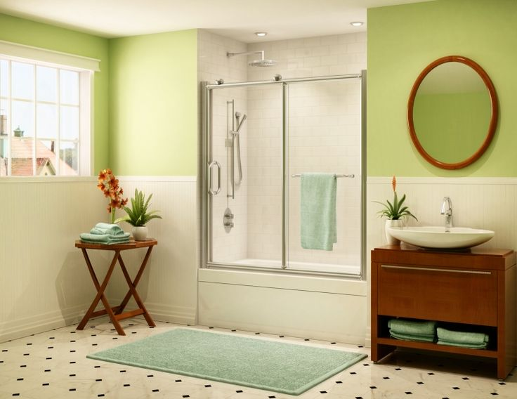 fleurco roma roma inline tub enclosure door - Bathtub Shower Doors