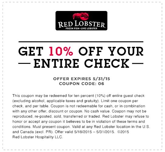Today's Best Red Lobster Deals