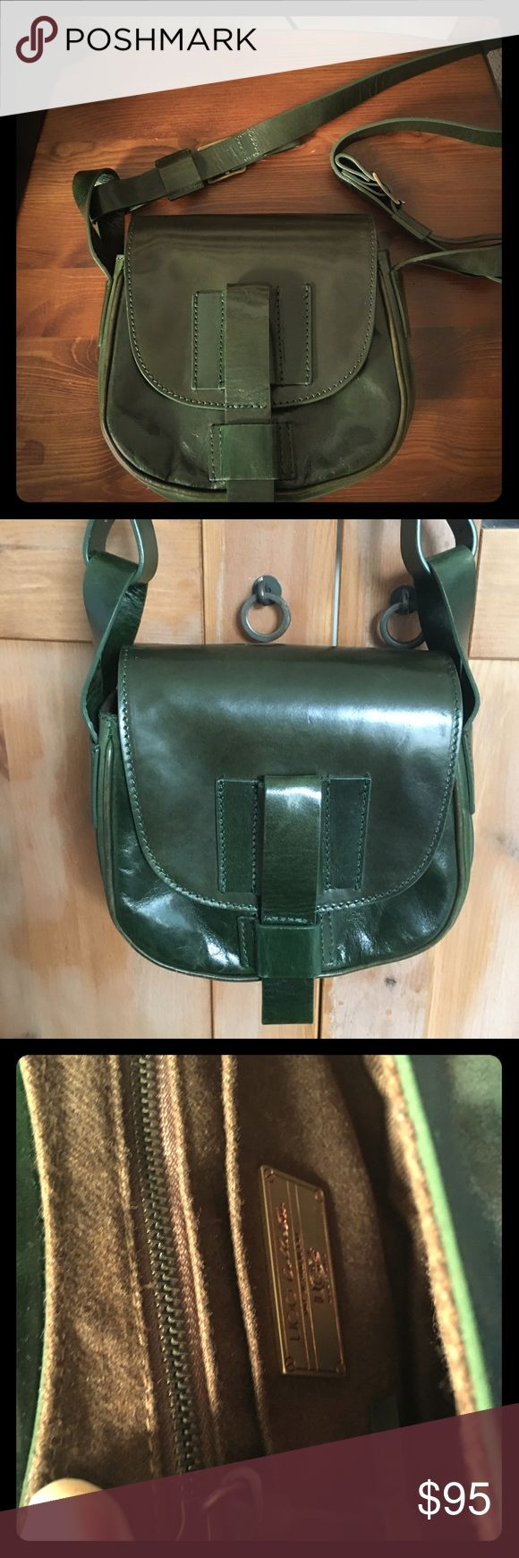 UGG Collection Italian leather handbag UGG Collection green handbag made with Italian leather in Italy with slotted strap closure and internal zipper pocket UGG Bags Shoulder Bags
