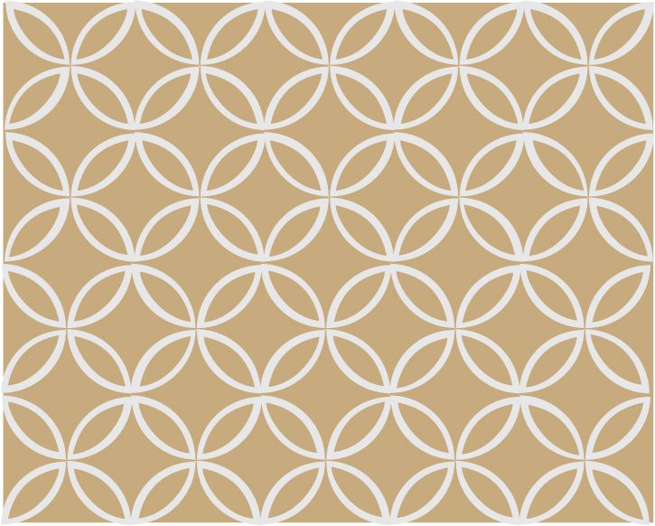 Intersecting Circles - Tan and White