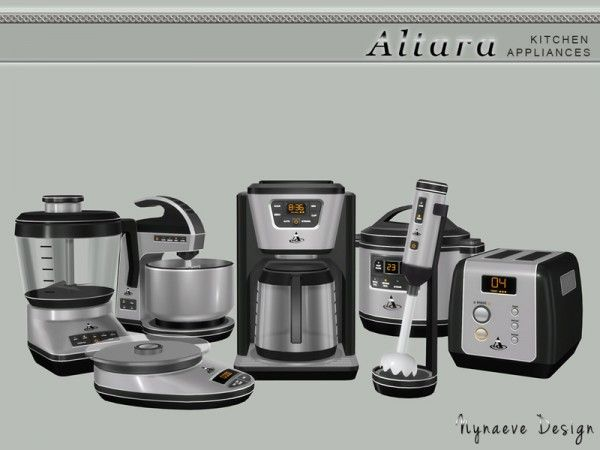 The Sims Resource: Altara Kitchen Appliances by NynaeveDesign • Sims 4 Downloads