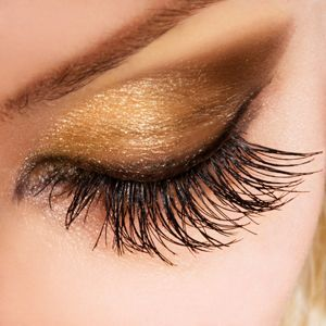Brown and hazel eyes look gorgeous in golds