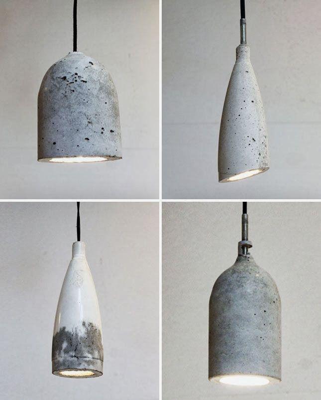 caractériELLE: Des lampes en béton..