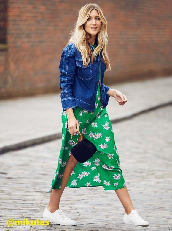 Comment porter une robe longue verte ? #look #outfit