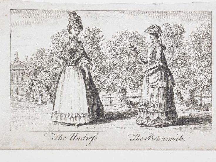 1764: The undress, the brunswick http://collections.museumoflondon.org.uk/online/object/725305.html