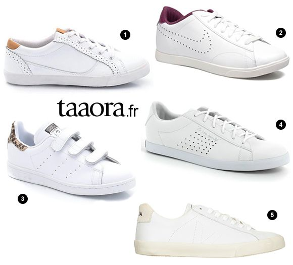 online store 603a8 717c3 Les baskets blanches, toujours tendance cet automne-hiver !