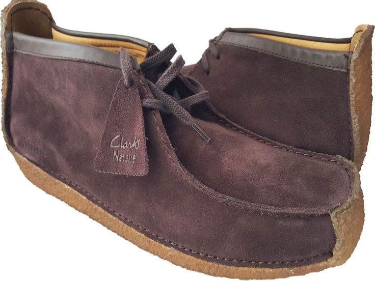 Clarks Redland Dark Brown Suede Men S Lace Up Casual Shoes
