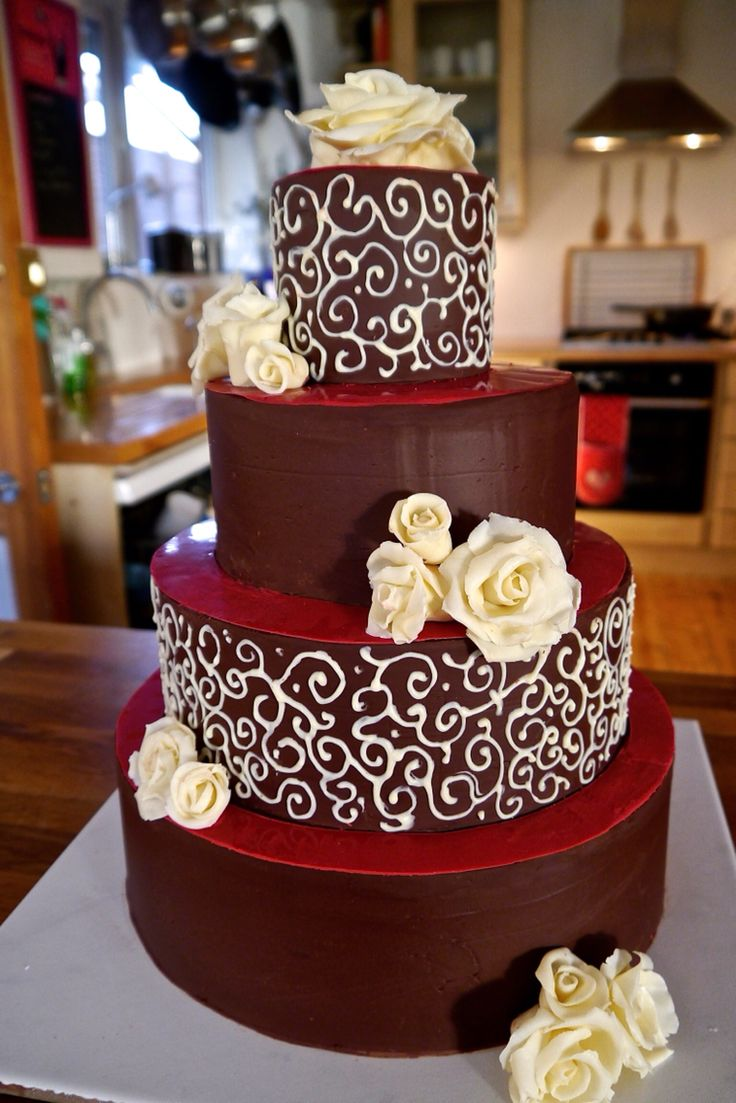 4 tier chocolate wedding cake recipe 16 best chocolate wedding cakes images on 10372