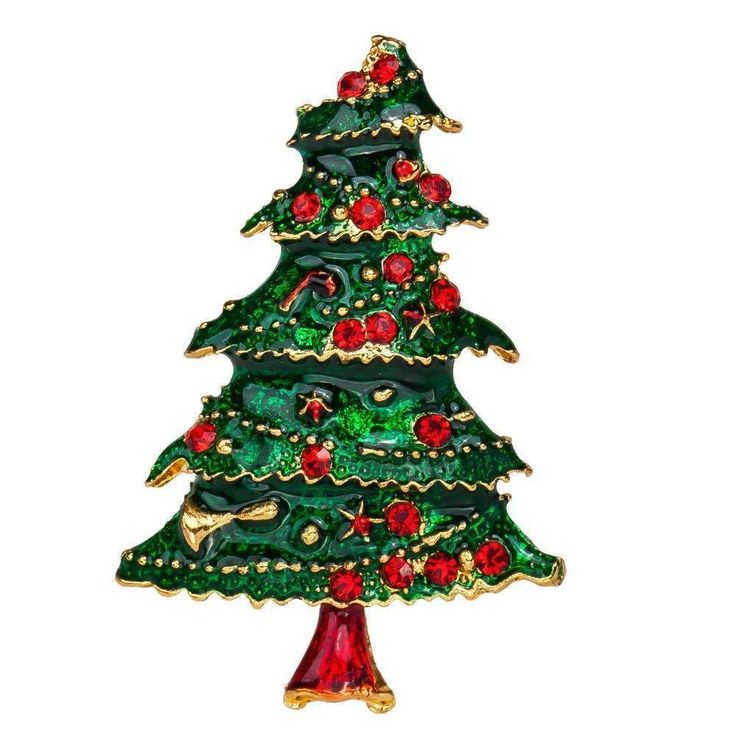 Enamel Brooch Christmas Tree Brooches Pin Charm Costume Brooch Pins Jewelry Accessories For Women'S Girl Badge Free Shipping
