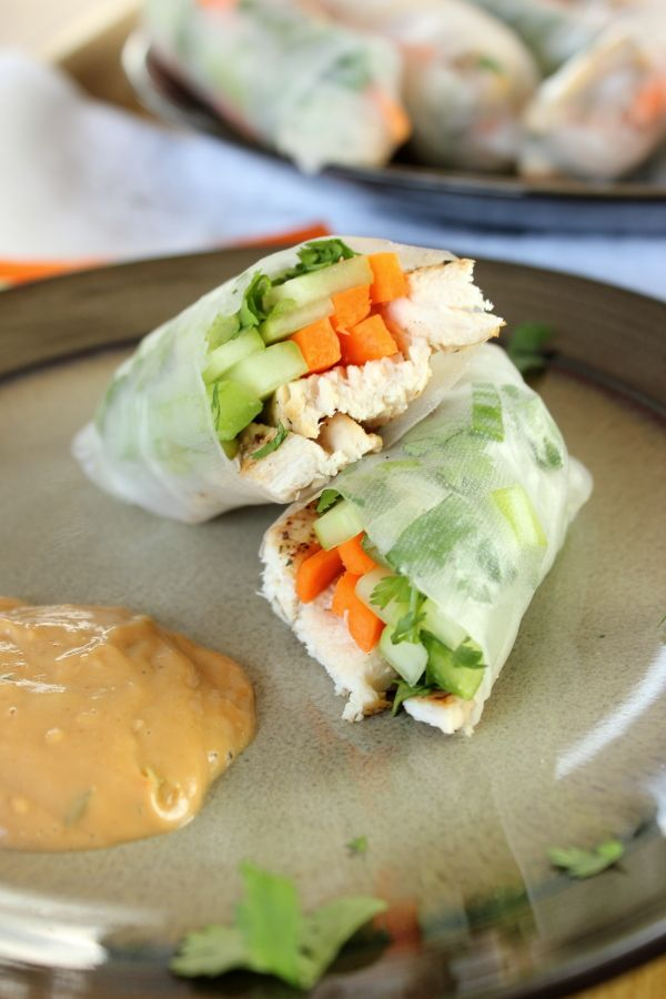 Spring rolls are easier to make than you think! Get the recipe for these easy Chicken Spring Rolls with rice paper.