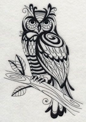 This beautiful owl design is one of many at the Embroidery Library