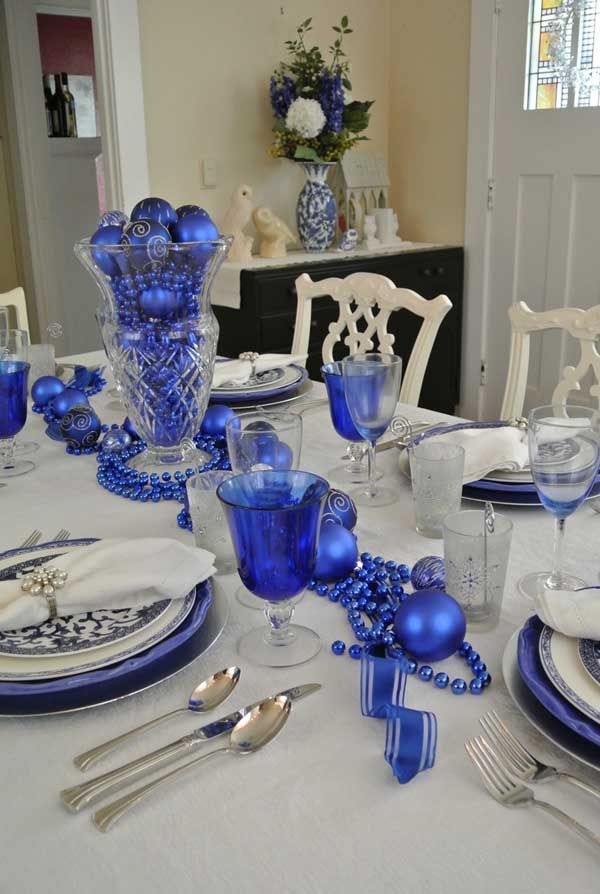 blue christmas decorations ideas