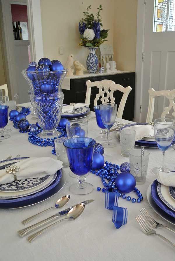 blue christmas decorations ideas