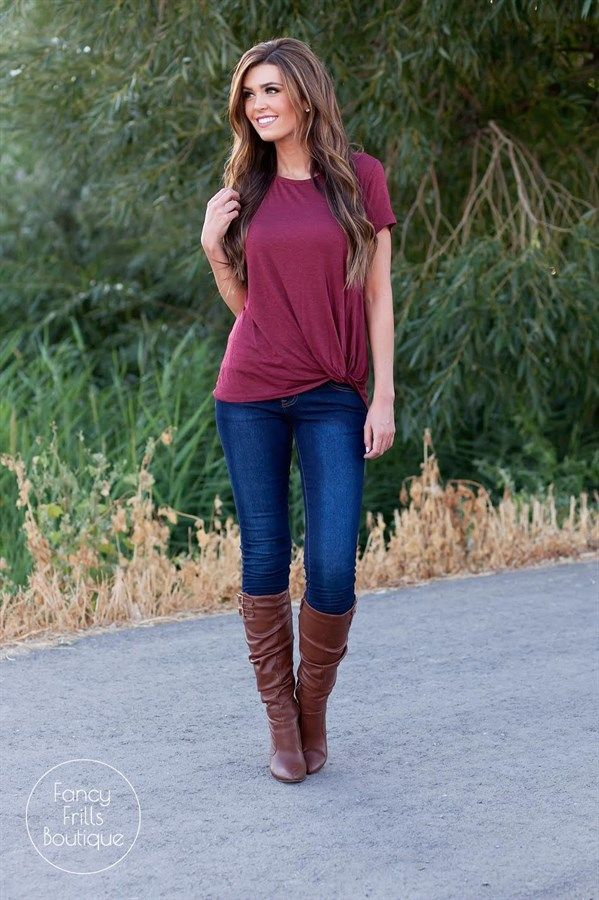 The perfect basic with a twist! Draped fall tunics are a must have!