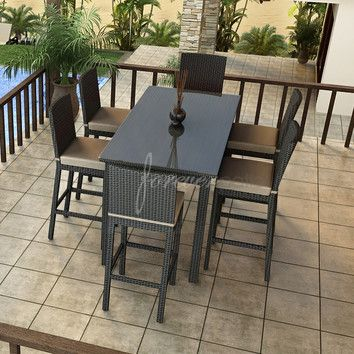 $2,763, Free Shipping, Forever Patio Barbados 7 Piece Bar Height Dining Set