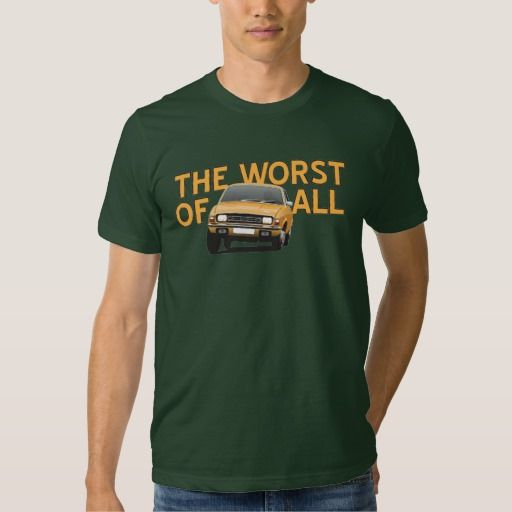 Austin Allegro - The worst of all - orange  #austinallegro #allegro #austin #leyland #british #uk #automobile #car #tshirt #print #illtustration #zazzle #70s #classic #
