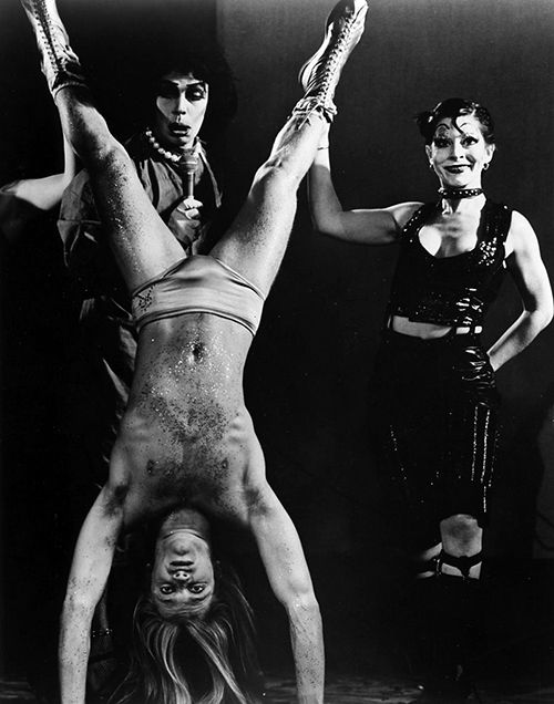 Tim Curry, Kim Milford and Boni Enten in The Rocky Horror Show: Broadway, 1975
