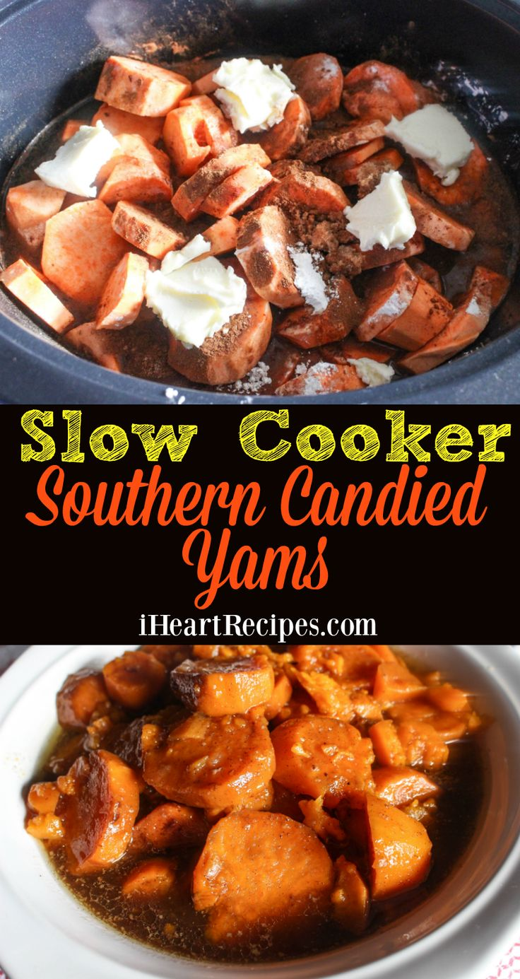 Slow Cooker Southern Candied Yams | I Heart Recipes