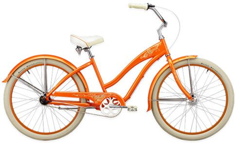 tangerine beach cruiser