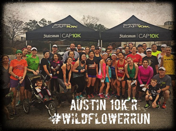 Austin 10K'r social run group spreads the love by dropping Texas wildflower seeds at the #WildflowerRun along Lady Bird Lake.