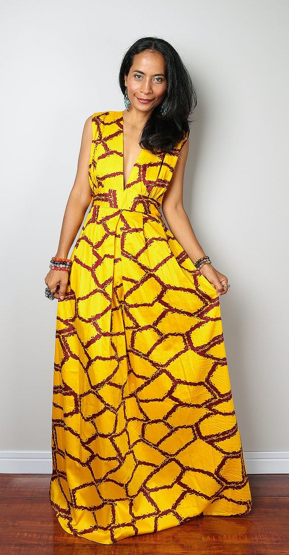 Boho Maxi Dress Funky African Dress : Oriental by Nuichan