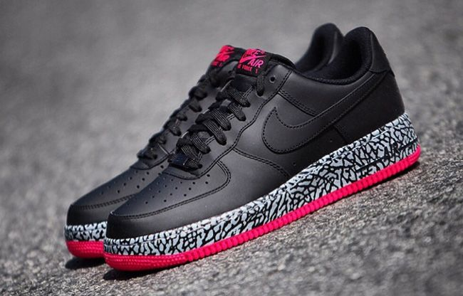 Nike Air Force 1 Low: Black & Elephant