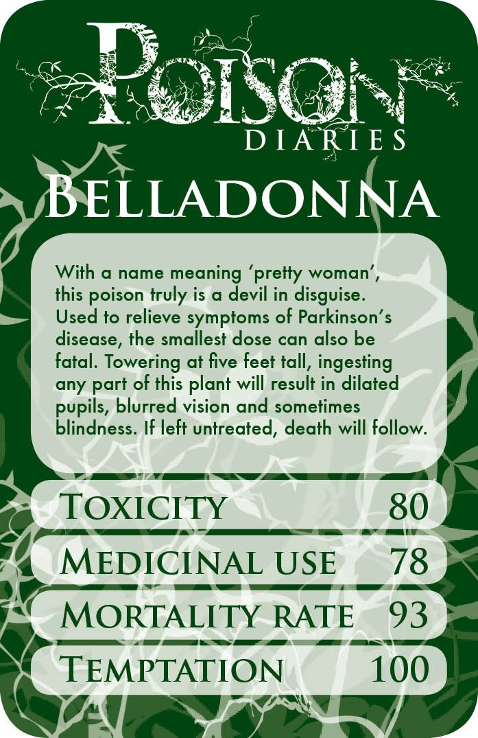 Belladonna/deadly nightshade. Pretty to look at, but the effects are truly ugly.